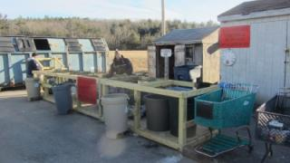 Transfer station recycling area